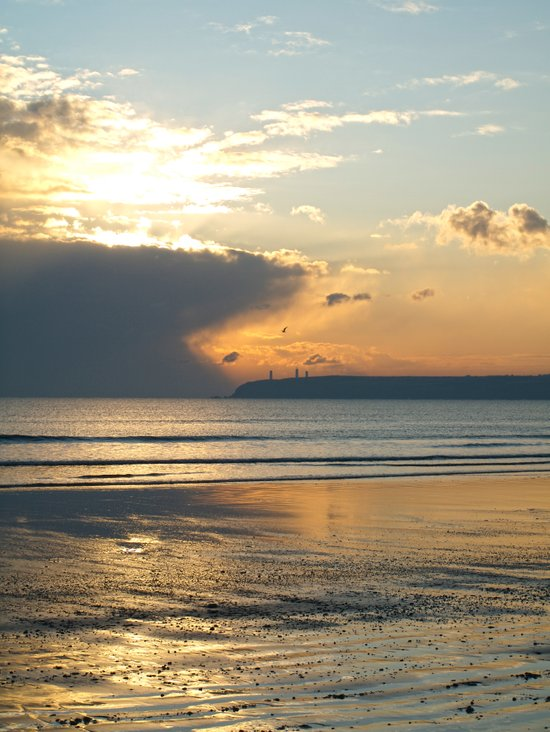Beachside. Tramore, Co. Waterford Canvas Print