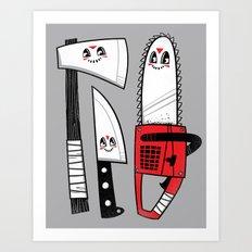 Happy Slasher Pals Art Print
