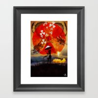 Umbrellaliensunshine: Sp… Framed Art Print