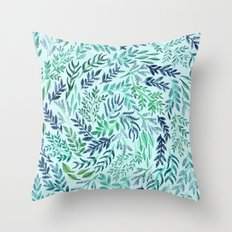 Wild Scattered Branches Throw Pillow