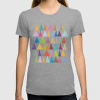 Analogous Shapes In Bloo… Womens Fitted Tee Tri-Grey SMALL