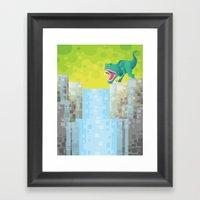 Dino Falls Framed Art Print