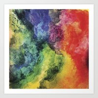 Rainbow Tie Dye Watercolor Art Print