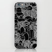 iPhone & iPod Case featuring Oodles of Doodles of Singapore (Black) by wanton doodle