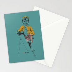 the ladder Boy Stationery Cards