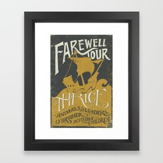 Thrice Farewell Tour Alternate (Limited) Framed Art Print