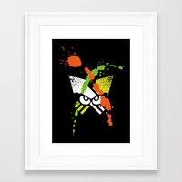 Splatoon - Turf Wars 1 Framed Art Print
