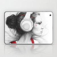 I Love Music | Girl in Headphones Laptop & iPad Skin