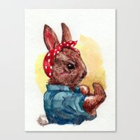 Canvas Print featuring Rosie by Becca Kallem
