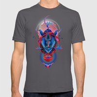 Blue gibbon Mens Fitted Tee Asphalt SMALL