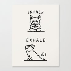 Inhale Exhale Frenchie Canvas Print