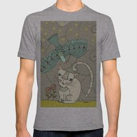 Sous Les étoiles Mens Fitted Tee Athletic Grey SMALL