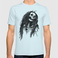 The Legend Of Reggae Mens Fitted Tee Light Blue SMALL
