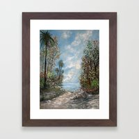 Almost At The Shore! Framed Art Print