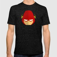 Flash Mens Fitted Tee Tri-Black SMALL
