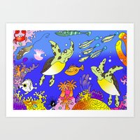 Sea Turtles Art Print