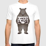 I Need A Hug Mens Fitted Tee White SMALL