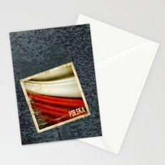 STICKER OF POLAND flag Stationery Cards