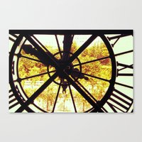 Clock in Musee D'Orsay, Paris Canvas Print