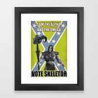 Vote Skeletor Framed Art Print