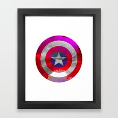 Captain America Colors Framed Art Print