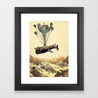 Whale Flight I Framed Art Print