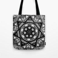 Monochromatic Bloom  Tote Bag