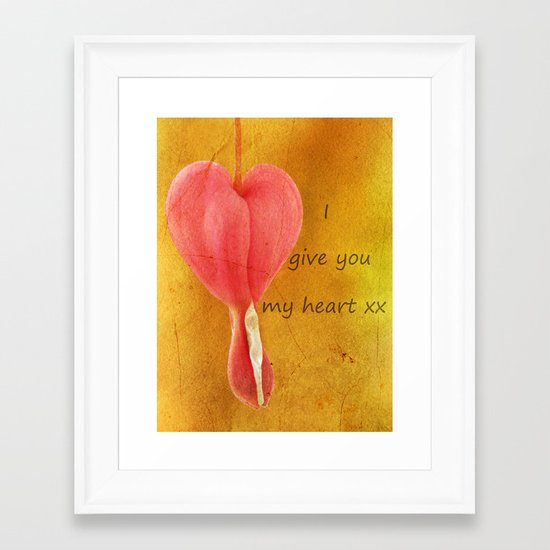 My Heart Framed Art Print