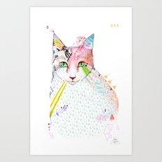 Cat / March Art Print