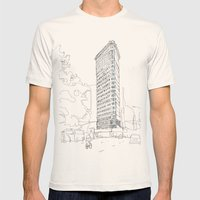 Flat Iron Building Mens Fitted Tee Natural SMALL