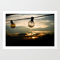 Unlit Sunset.  Art Print
