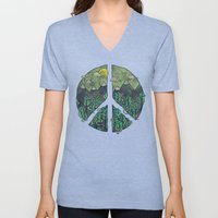 Peaceful Landscape Unisex V-Neck