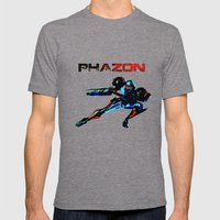 PHAZON Mens Fitted Tee Tri-Grey SMALL