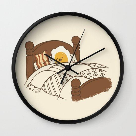 Breakfast In Bed  Wall Clock