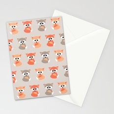 Baby foxes pattern Stationery Cards