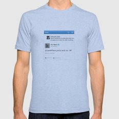 Sassy Tweet Tee Mens Fitted Tee Athletic Blue SMALL
