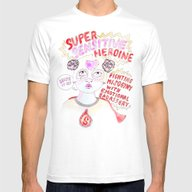 Super Sensitive Heroine Mens Fitted Tee White SMALL