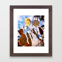 Autumn money plant Framed Art Print