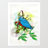 Bad Bad Birdy Art Print