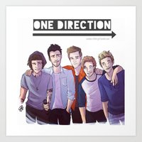 one direction Art Prints featuring One Direction by Gianbe