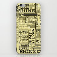 Down with the Shine iPhone & iPod Skin