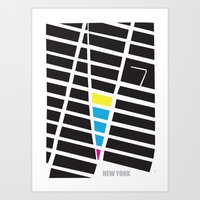 City Map New York Art Print