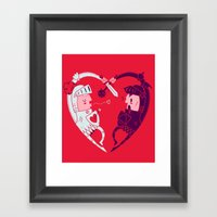 All Is Fair In Love And War Framed Art Print