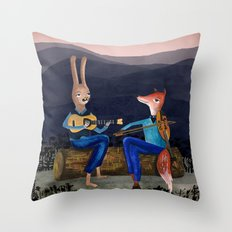 Smoky Mountain Gypsy Jazz Throw Pillow