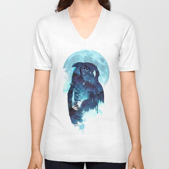 Midnight Owl V-neck T-shirt