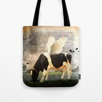 Cow with Wings Tote Bag