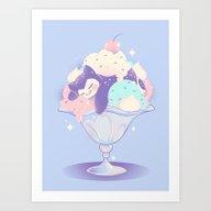 Sweet Tooth Sundae Art Print