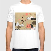 Tobermory Mens Fitted Tee White SMALL