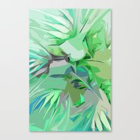 Palm Trees Abstract Canvas Print