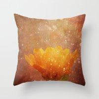 Orange Sparkle Throw Pillow